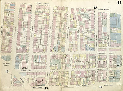 Plate 11 Map Bounded By Chatham Square, Division Street Art Print by Litz Collection