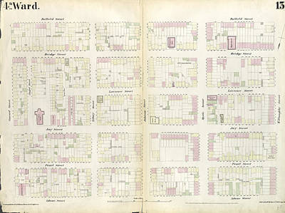 Concord Drawing - Plate 13 Map Bounded By Concord Street, Duffield Street by Litz Collection