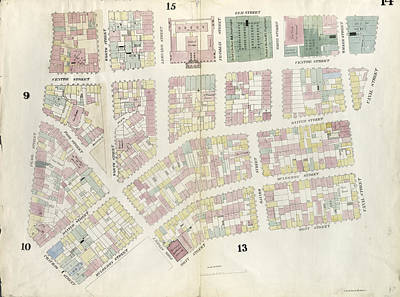 Chatham Drawing - Plate 14 Map Bounded By Canal Street, Mott Street by Litz Collection