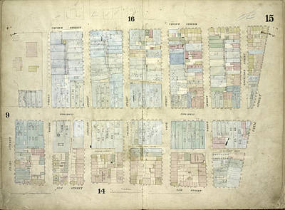 Plate 15 Map Bounded By Church Street, Canal Street, Elm Art Print