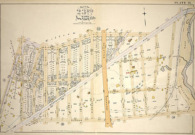 Plate 16 Bounded By E. 167th St Art Print by Litz Collection