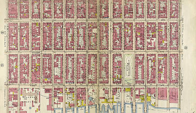 Lexington Drawing - Plate 16 Bounded By Lexington Avenue by Litz Collection
