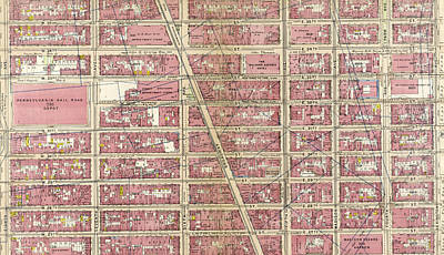 Lexington Drawing - Plate 17 Bounded By W. 36th Street, E. 26th Street by Litz Collection