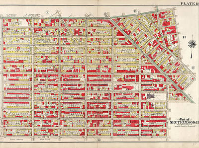 Plate 18 Bounded By Flushing Avenue, Bremen Street Print by Litz Collection