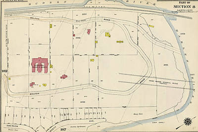 Prescott Drawing - Plate 186 Bounded By Bolton Road Harlem River by Litz Collection