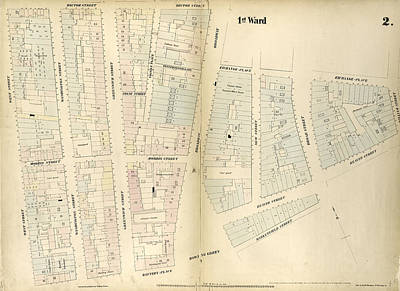 Plate 2 Map Bounded By Rector Street, Broadway, Exchange Art Print by Litz Collection