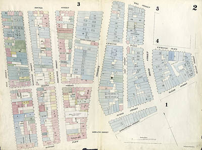 Plate 2 Map Bounded By Rector Street, Broadway, Wall Art Print by Litz Collection