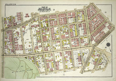 Austin Drawing - Plate 24, Part Of Section 10, Borough Of The Bronx. Bounded by Litz Collection