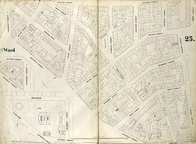Plate 25 Map Bounded By Chambers Street, Center Street Art Print