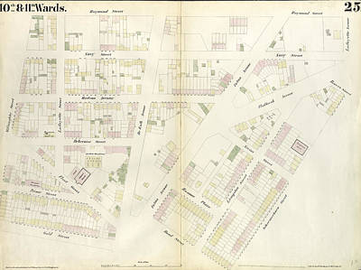 Plate 25 Map Bounded By Willoughby Street, Raymond Street Print by Litz Collection