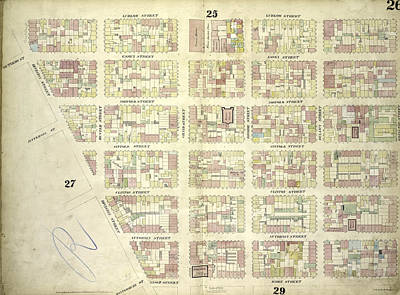 Plate 26 Map Bounded By Ludlow Street, Rivington Street Art Print
