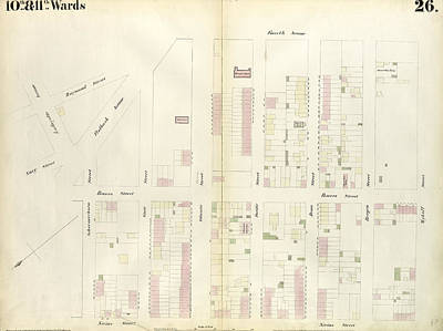Plate 26 Map Bounded By Schermerhorn Street, Powers Street Print by Litz Collection
