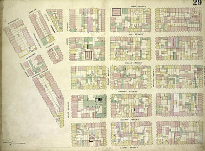 Plate 29 Map Bounded By Montgomery Street, Ridge Street Art Print