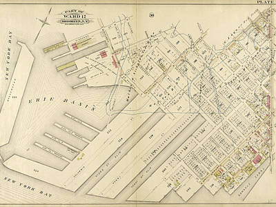 Bryant Drawing - Plate 31 Bounded By Richards Street, Partition Street by Litz Collection