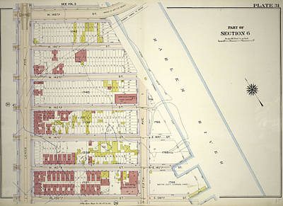 Harlem Drawing - Plate 31 Bounded By W. 145th Street, Harlem River Fifth by Litz Collection