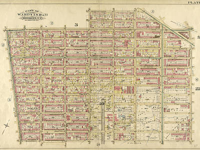 Atlantic Avenue Drawing - Plate 4 Bounded By Atlantic Avenue, Bond Street by Litz Collection