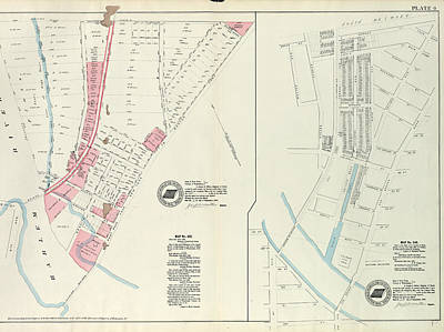 Harlem Drawing - Plate 4 Map No. 302 Bounded By Harlem River by Litz Collection