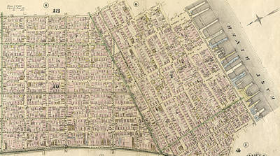 James Madison Drawing - Plate 5 Bounded By Clinton Street, Madison Street by Litz Collection