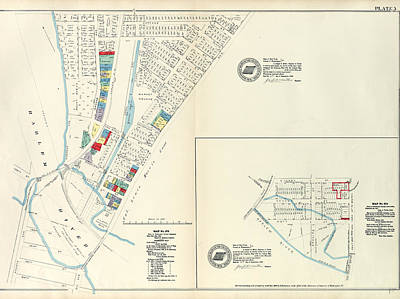 Harlem Drawing - Plate 5 Map No. 375 Bounded By Fourth Avenue by Litz Collection