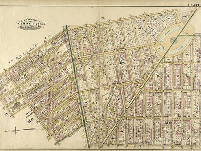 Plate 6 Bounded By Washington Avenue, Underhill Avenue Print by Litz Collection