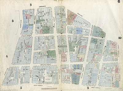 Plate 6 Map Bounded By City Hall Square Art Print by Litz Collection