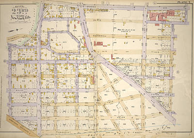 Plate 7 Bounded By St. Anns Ave., John St Art Print