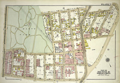 Austin Drawing - Plate 7, Part Of Section 10, Borough Of The Bronx. Bounded by Litz Collection