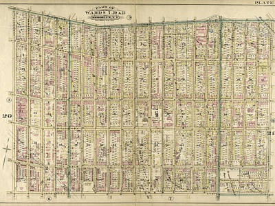 Plate 8 Bounded By Flushing Wallabout Avenue Print by Litz Collection