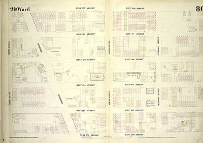 80 Drawing - Plate 80 Map Bounded By West 32nd Street, East 32nd Street by Litz Collection