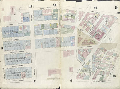 Plate 9 Map Bounded By Pearl Street, Chatham Street, Duane Art Print