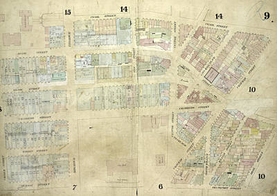 Plate 9 Map Bounded By Pearl Street, Chatham Street Art Print by Litz Collection