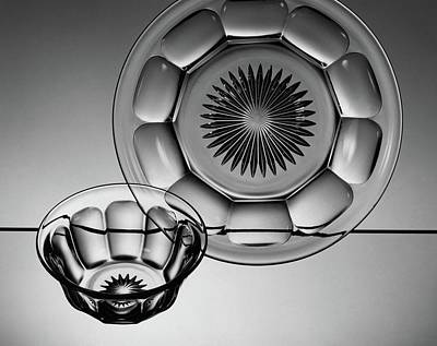 Tableware Photograph - Plate And Bowl by Martinus Andersen