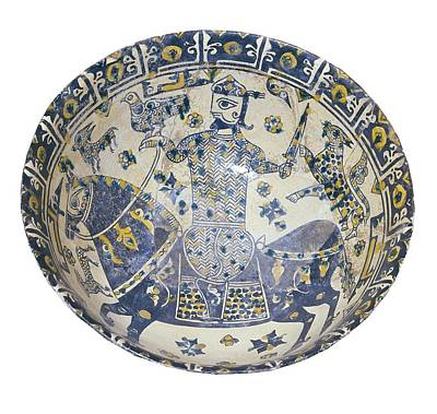 Ceramics Photograph - Plate Decorated With A Warrior, 10th C by Everett