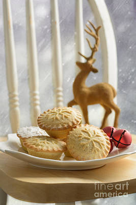 Plate Of Mince Pies Art Print