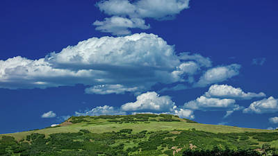 Plateau With Clouds - San Juan Art Print