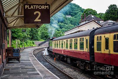 Steam Locomotive Photograph - Platform 2 by Adrian Evans