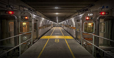 Shore Lines Photograph - Platform Eight At Union Station by Adam Romanowicz