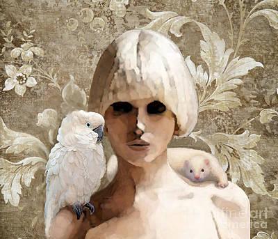 Cockatoo Digital Art - Platinum Friends by Maureen Tillman