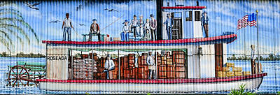 Palatka Boat Mural Art Print by David Lee Thompson