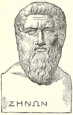 Faces Drawing - Plato  by English School