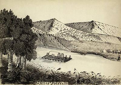 Wyoming Drawing - Platte River, 1859 by Granger