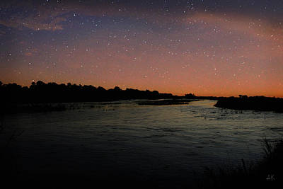 Photograph - Platte River - Starry Night by Andrea Kelley