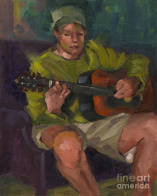 Painting - Play A Song For Me by Nancy  Parsons