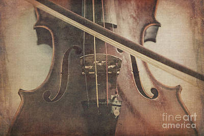 Violins Photograph - Play A Tune by Emily Kay