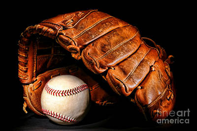 Catcher Photograph - Play Ball by Olivier Le Queinec