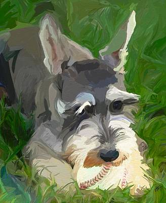 Play Ball Art Print by Patti Siehien