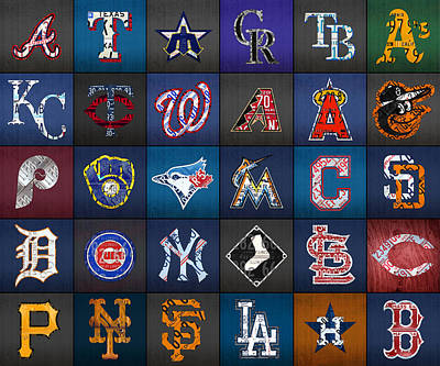Miami Mixed Media - Play Ball Recycled Vintage Baseball Team Logo License Plate Art by Design Turnpike
