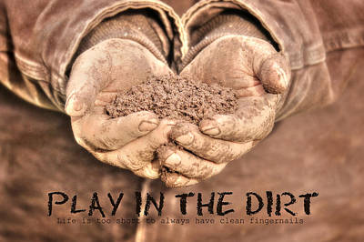 Planting Digital Art - Play In The Dirt by Lori Deiter