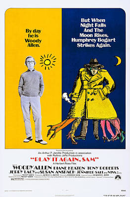 1970s Movies Photograph - Play It Again, Sam, Us Poster, Woody by Everett