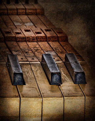 Piano Photograph - Play Me An Old Hymn by David and Carol Kelly